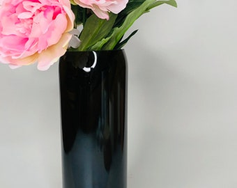 The Curve Vase - Recycled Wine Bottle Vase
