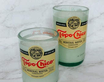Tiny Topo Chico Bottle Soy Candle