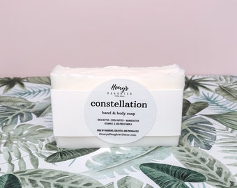 Constellation Triple Butter Hand & Body Soap   Grapefruit and Black Currant