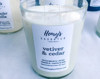 Two-Wick Champagne Bottle Soy Candle