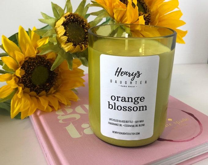 Orange Blossom - Wine Bottle Candle