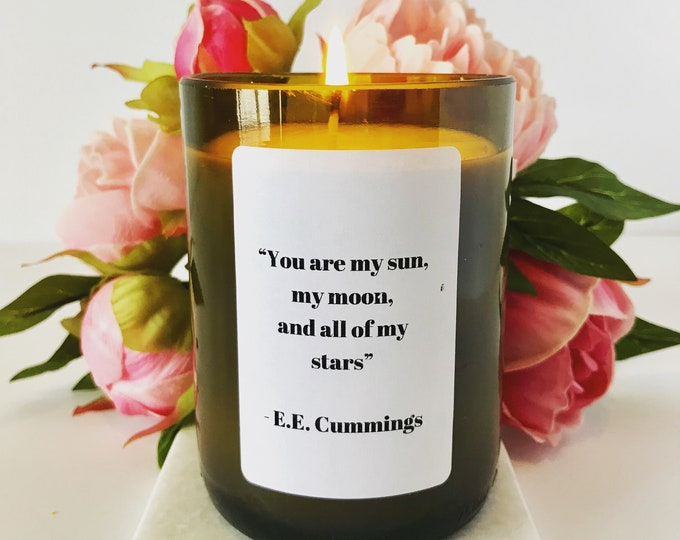 Personalized Candle - Wine Bottle