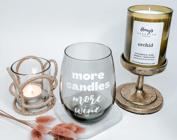 Featured listing image: More Candles Stemless Wine Glass