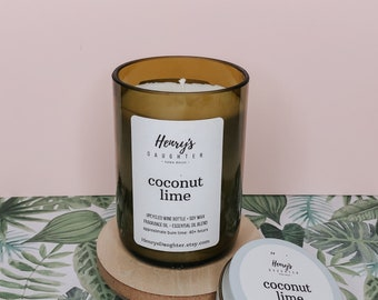 Coconut Lime - Wine Bottle Candle