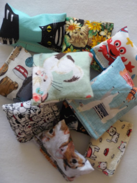 Organic Catnip Pillows - Assorted, Handmade Cat Toys