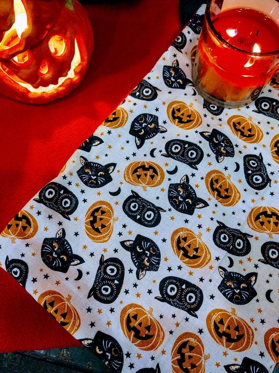 Organic Catnip Blankets - Halloween Cats Pumpkins Owls