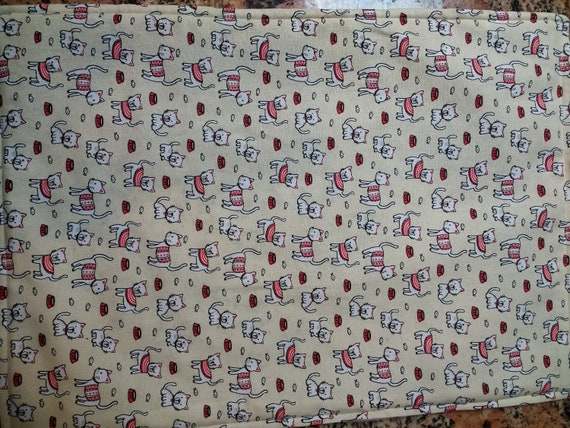 Organic Catnip Blankets- Red White & Mew