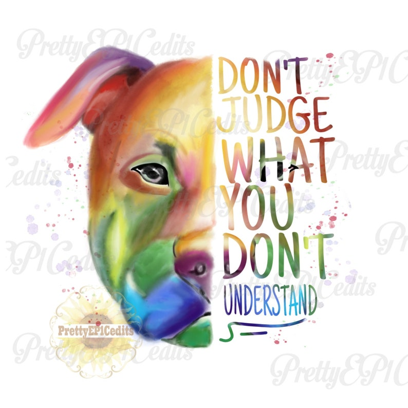 JPG Rainbow pitbull watercolor dog PNG half face pitbull digital download,clip art watercolor pitbull painted pitbull PNG