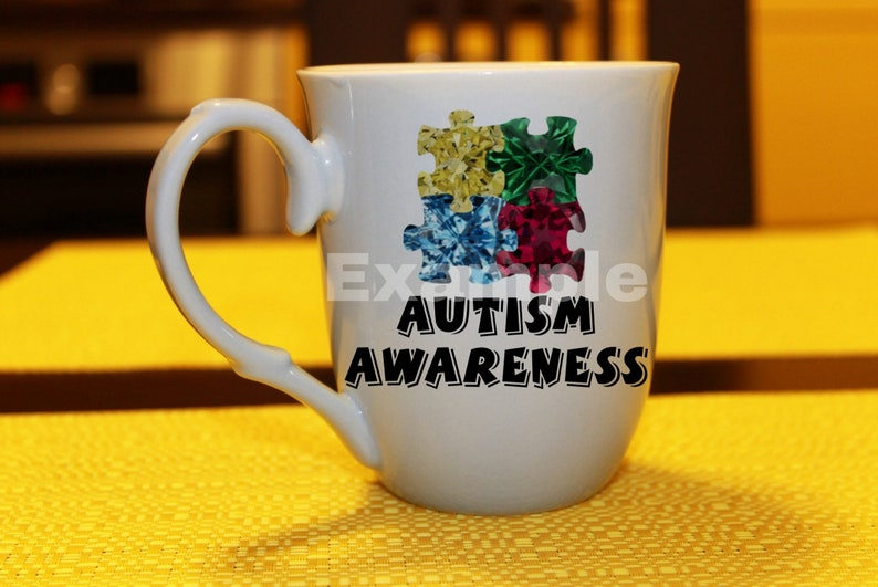 puzzle pieces digital download PNG JPG autism awareness Primary colors gemstones clip art