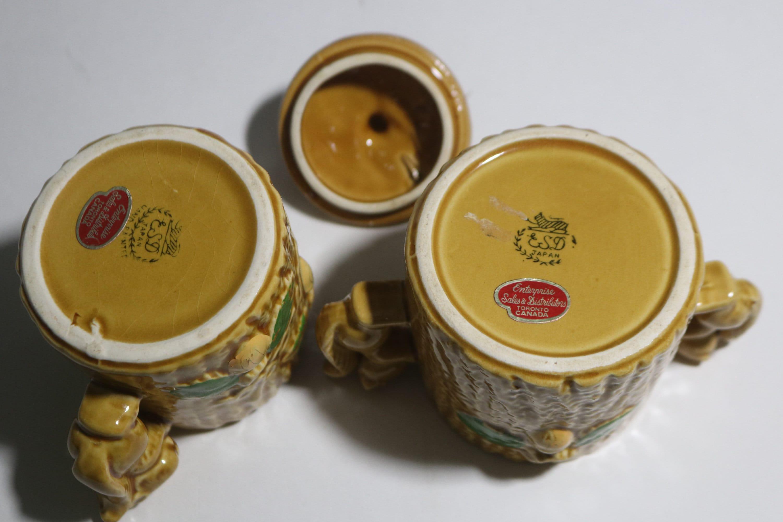 keramik japan kanada wald eichhörnchen auf einem baum