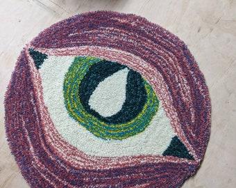 Handmade Tufted Eye Rug 100% Wool