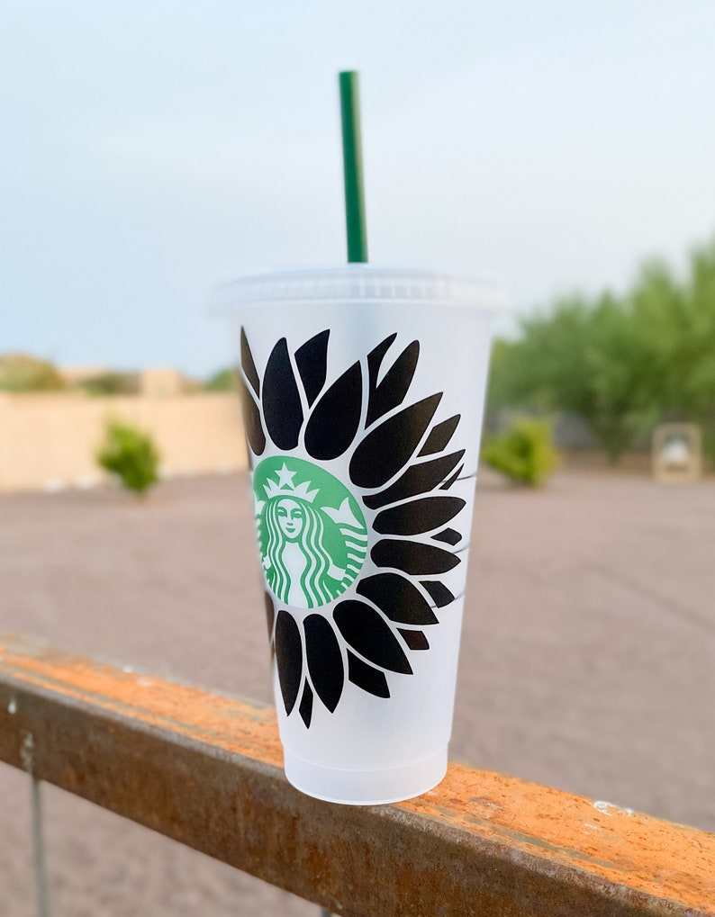 Download Sunflower Starbucks Cold Cup SVG Sunflower Venti Starbucks ...