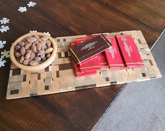 Chaos Pattern End Grain Snack Serving Tray