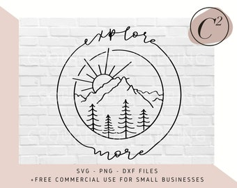 Explore More Lettered SVG, explore svg, explore files for Cricut, nature cut files, svg, png, dxf