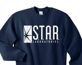 f0019e520 STAR Laboratories Shirt , Crewneck , Sweatshirt , S.T.A.R. Laboratories T  Shirt , Star Laboratories Sweatshirt , STAR Labs Shirt , The Flash