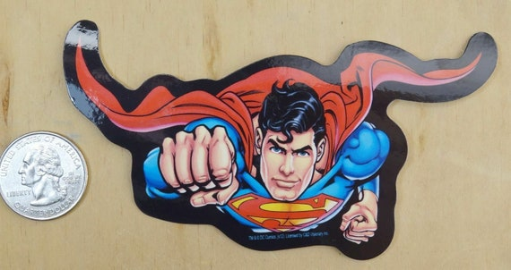 """1 Superman cartoon embroidery patch SEW //IRON on NEW  3 1//4 /""""x 2 1//4/"""""""