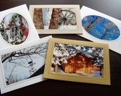 Winter Scenes Photo Note Cards Set 5