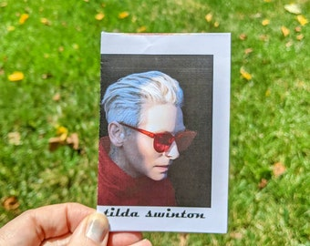 tilda swinton fanzine - full color photos and quotes