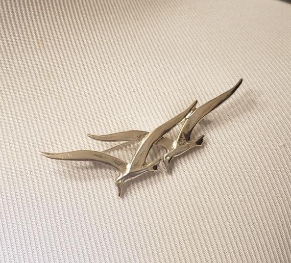 Vitnage Sterling Silver Bird Brooch - image 1