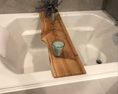 Live edge cedar bath caddy