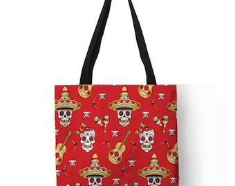 Colorful Cat Oil Painting Linen Tote Bag Eco-Friendly Beach Bag Reusable