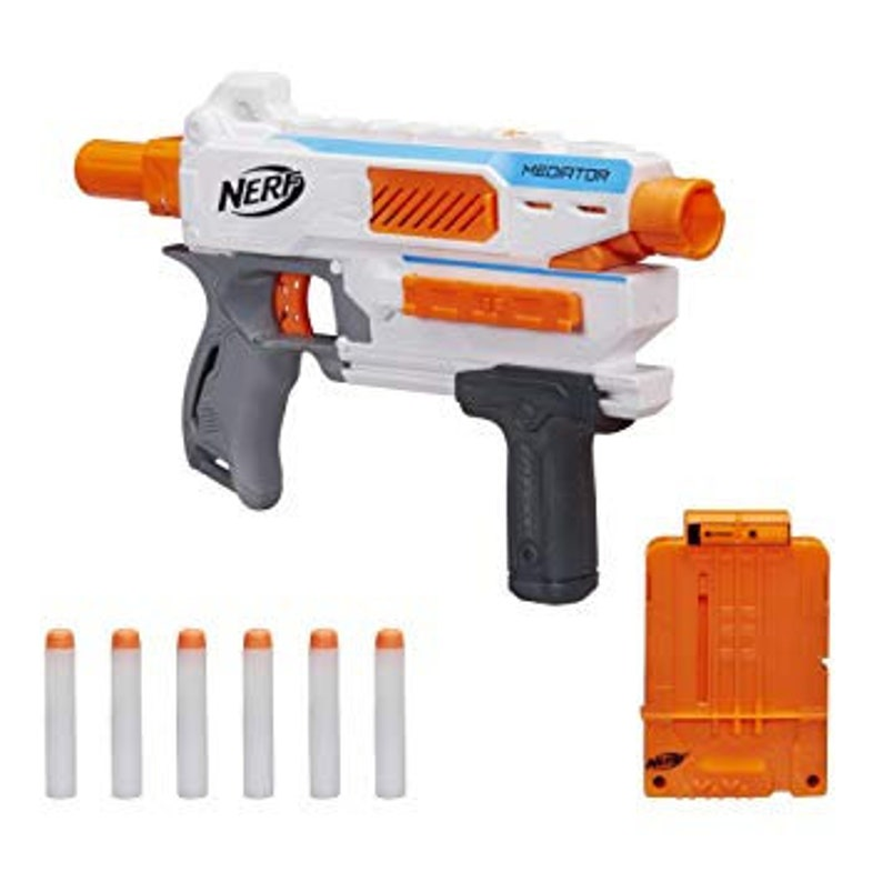 NEW! Orange Mod Works Modified Nerf Modulus Mediator w/ Mag & Darts