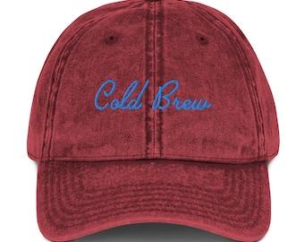 Cold Brew   California Cursive   Embroidered Cotton Twill Hat