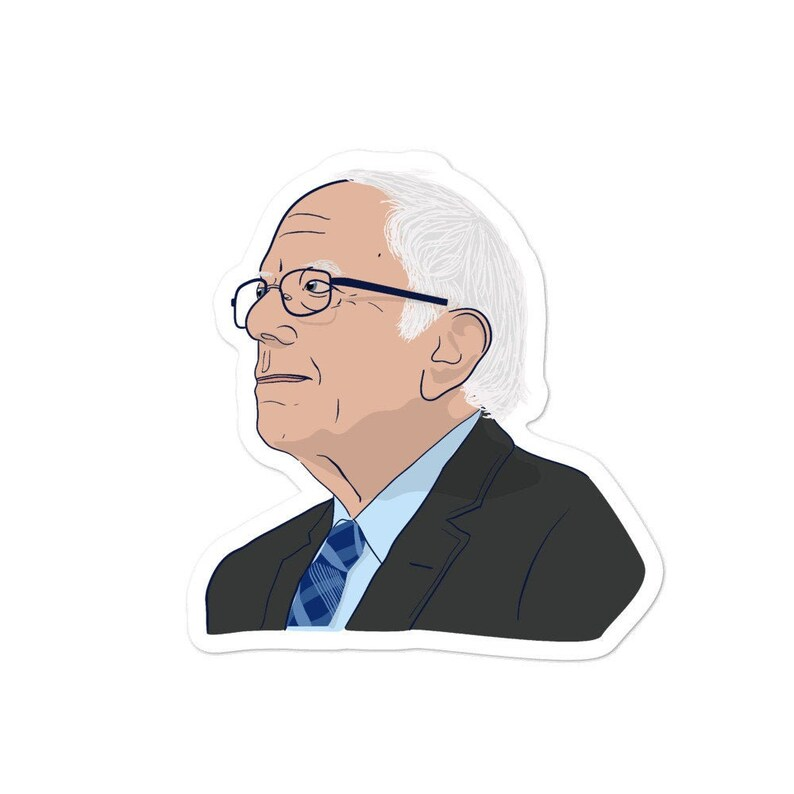 Middle Distance Bernie Sanders Sticker