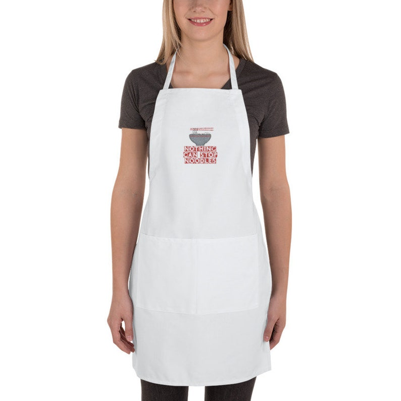Nothing Can Stop Noodles James May Embroidered Apron with Pockets