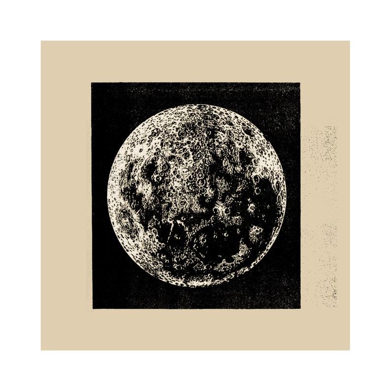 Fine Art Gicl\u00e9e Print MOON Museum Quality