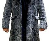 Unisex New Persian lamb fur Coat Karakul fur with Mink Collar Jacket colour-All sizes