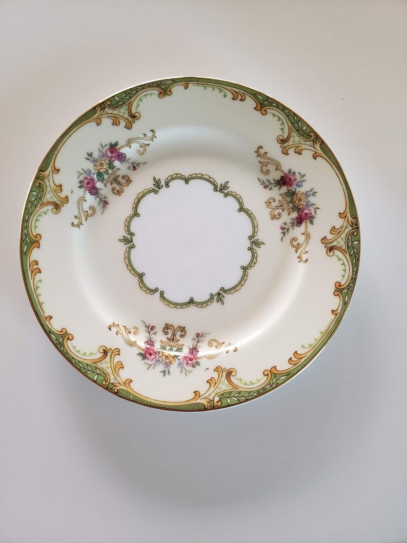 Vintage 1930s Noritake China Winton Pattern  6 516 Bread /& Butter Plates