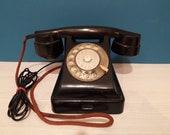 Black bakelite rotary phone VEF 1950 39 s Vintage Soviet UNION USSR Telephone 5