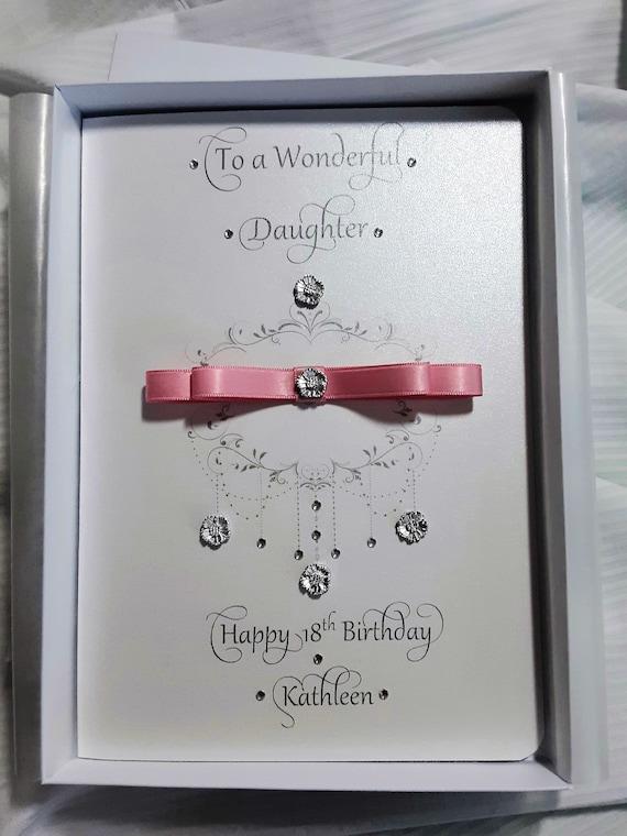 Handmade Personalised Birthday Card Daughter-In-Law Daughter Granddaughter