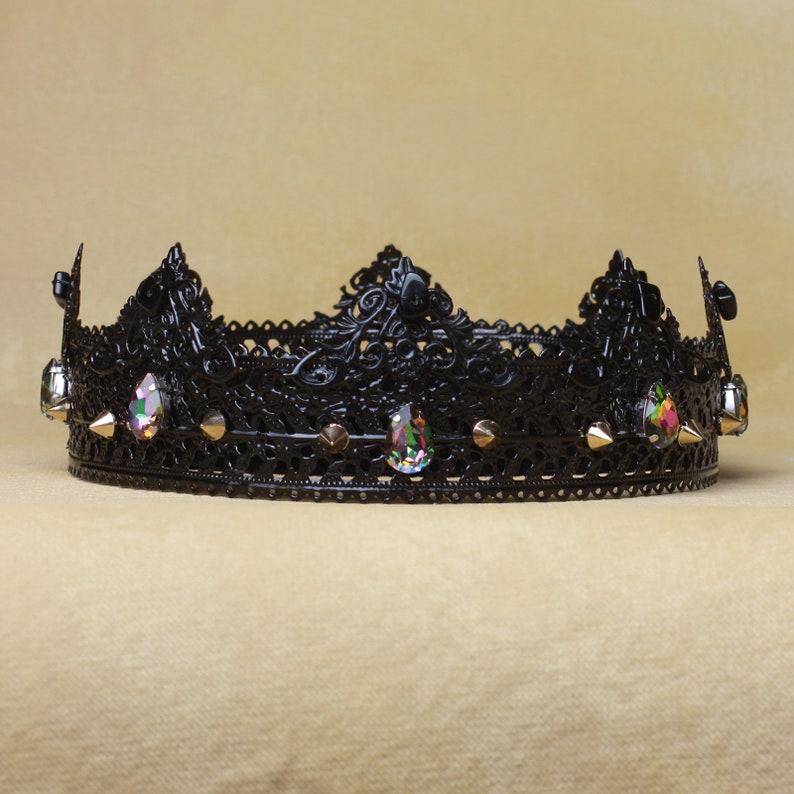 8f962c2e7b Black Crown, Gothic Crown, Custom Crown, Black Gothic Crown, Gothic  Headdress, Evil Queen, Crown, Vampire Crown, gothic wedding, groom crown