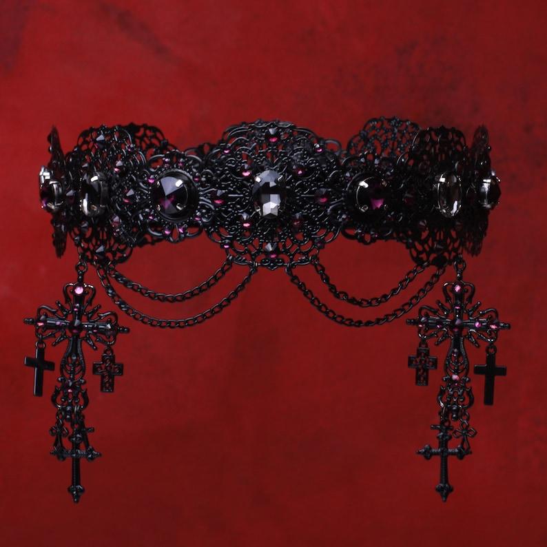 Gothic Cross Crown Black cross crown crowns and tiaras ORIGINAL Black Crown Dark times queen crown black tiara crown Evil Queen