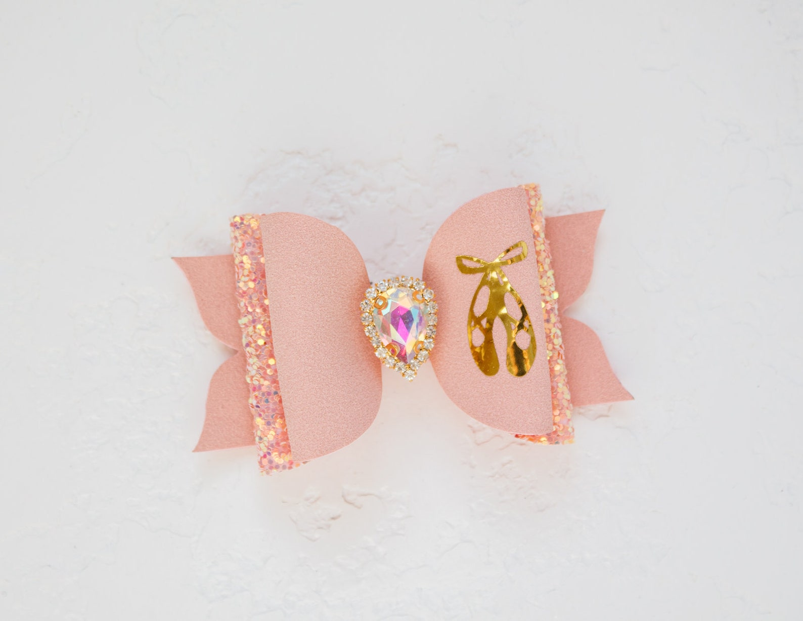 ballet shoes glitter hair bow faux suede pink ballet bow ballerina hairband ballet gifts ballerina shoes bow pointe shoes ballet