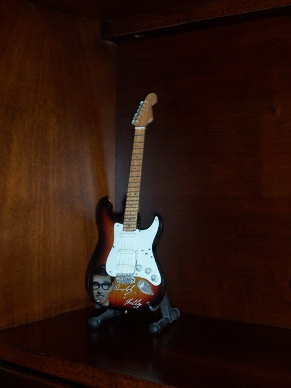 Miniature Guitar BUDDY HOLLY with free stand