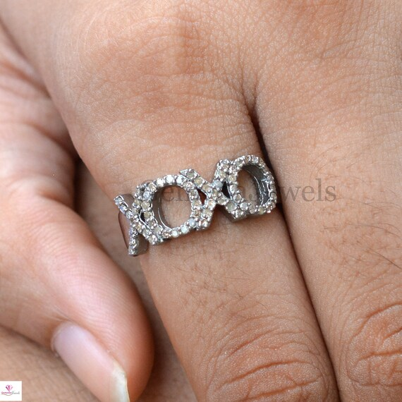 Pave Jewelry Handmade Ring Designer Ring Statement Ring Sterling Silver Ring Pave Diamond Jewelry Pave Diamond Ring Womens Ring.