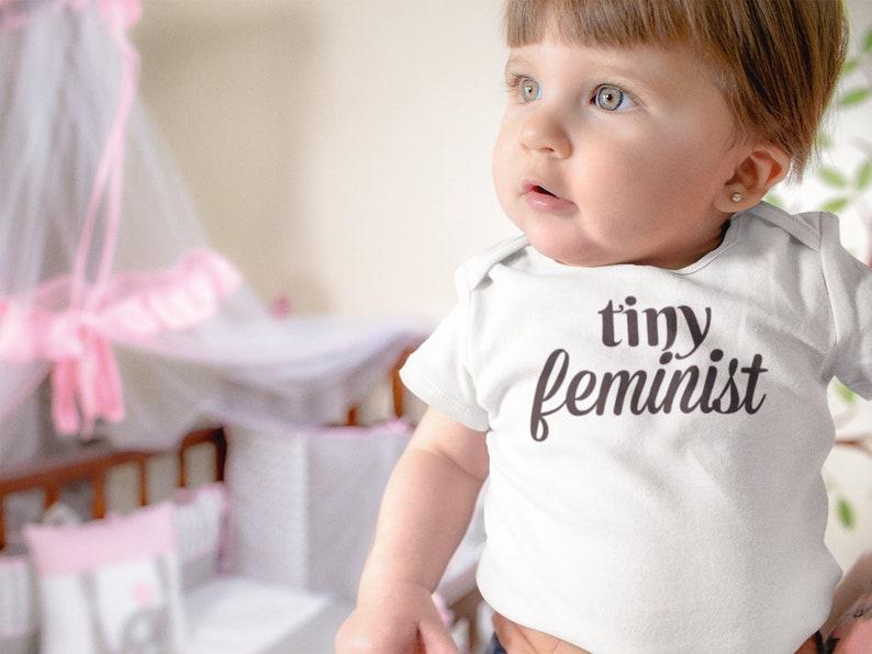 Tiny Feminist Girl Power Baby Shirt The Future is Female Feminist Baby Gift Baby Announcement Baby shower gift Feminist Baby Clothes