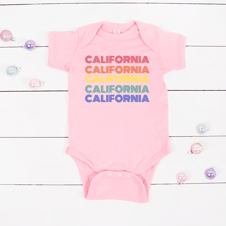 California Baby Clothes Gender Neutral Baby Clothes Retro Baby Bodysuit Retro California Baby Girl Clothes Baby shower gift