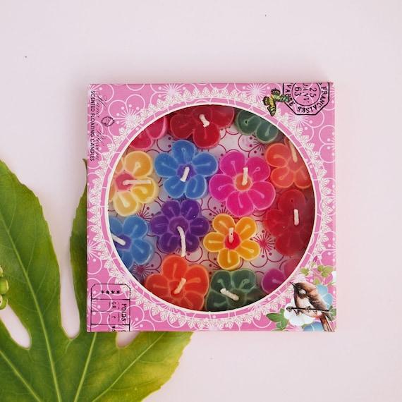 8 Handmade assorted primrose lights scented with Indian jasmine fragrance