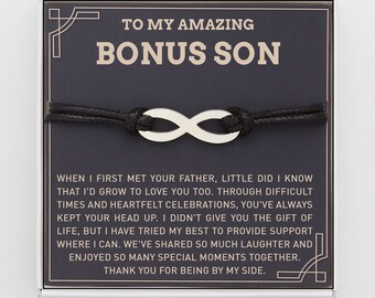 father son son bracelet stepson gift son gift teen son gift son adoption gift family gift boy son graduation gift