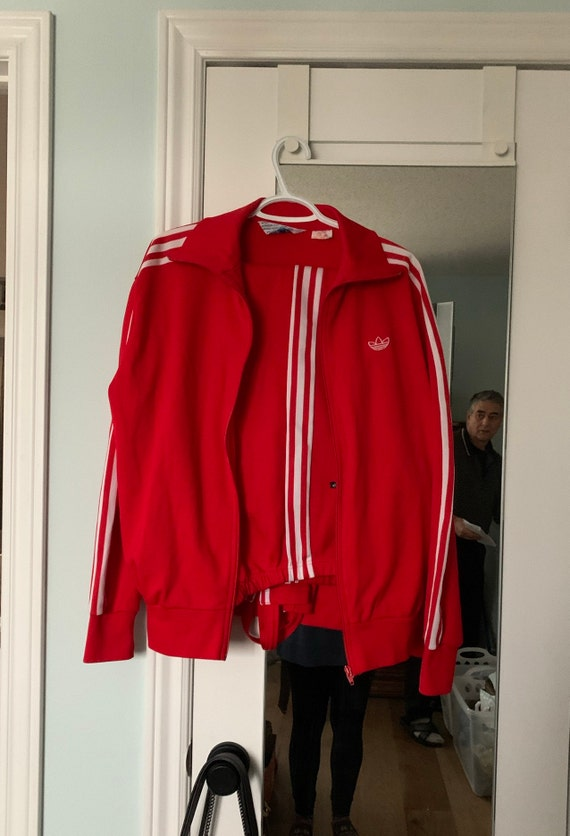 Vintage Adidas Red Men's Tracksuit