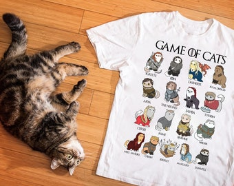 12efbbb63 Game Of Cats T-Shirt - Crazy Cat Lady Shirt - Mother Of Dragons Shirt -  Mother Of Cats Shirt - Khaleesi GOT Shirt - Mother's Day Gift Ideas