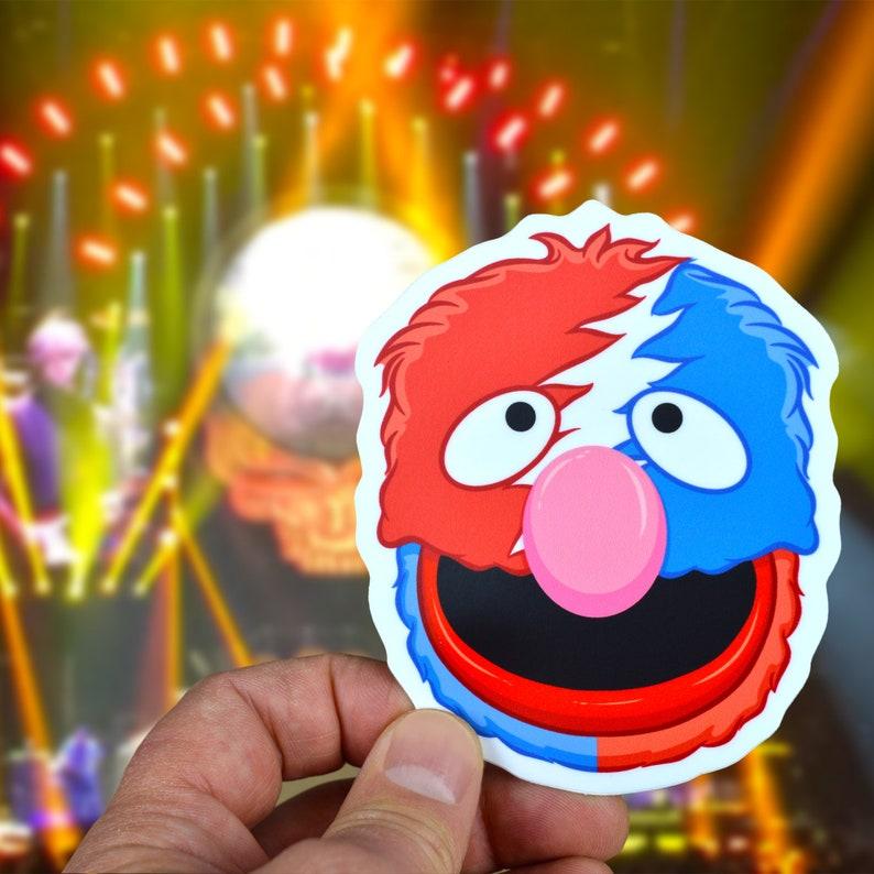 Grateful Grover Steal Your Face Vinyl Sticker image 0