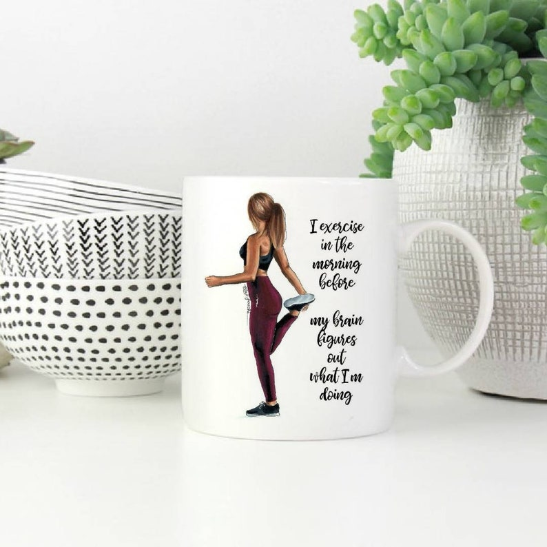 Fitness Mug, Exercise Mug, Gift for Her, Training Mug, Fit Girl, Love Sport  Mug