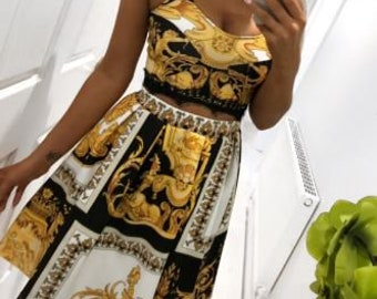 377893093e Versace pattern dress womens dress short dress