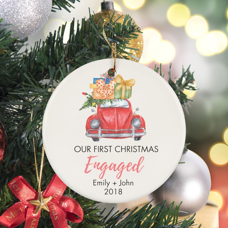 Personalized ceramic First Christmas Married Ornament custom 2018
