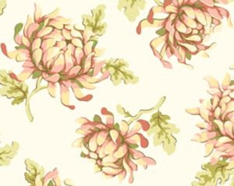 Heather Bailey - Fresh Cut Painted Mums PWHB 30 Free Spirit Fabric, Rare Out of Print,  By the Half yard